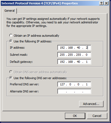 09-03-03 SBS 2008 - Change Server IP - 1 - Original IP