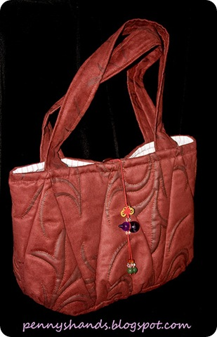 quilted triangles tote