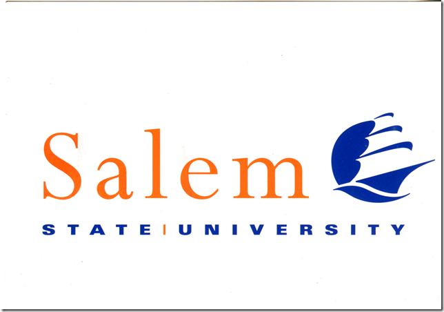 Salem State University postcard front