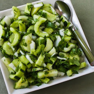 Asian Cucumber Salad with Cilantro and Vidalia Onions