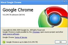 Google chrome 4.0.249.78