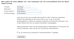 WinRAR 3.80 registration page
