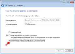 VPN Cionnection