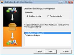 Backup Firefox Profile