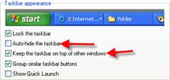 Taskbar Troubleshooting