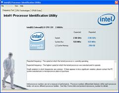 Intel Processor Identification utility Report Screen shot
