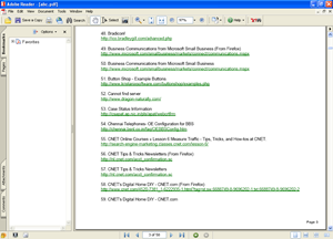 PDF of IE Bookmarks