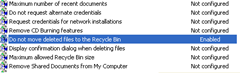Do not move deleted files to recyclebin