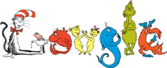 dr.seuss _happy birthday _logo from google