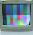 color patches on screen