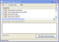 Fast Empty Folder Finder
