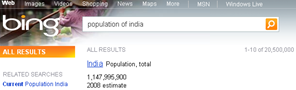 statistical information of_country _in _bing