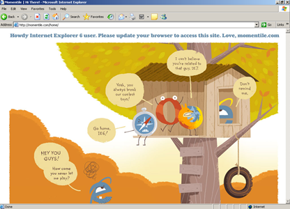Momentile denies to load in IE6