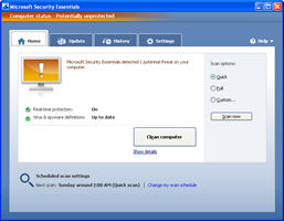 How to Uninstall Beta of Microsoft Security Essentials