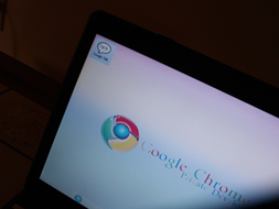 Google Chrome OS from side angle