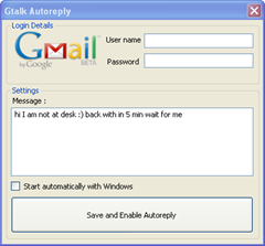 Gtalk auto reply