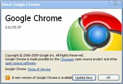 new version for google chrome