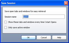 session saving in opera