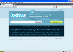 twitter in opera screenshot