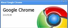 Google chrome 2.0.172.43