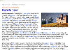 Reference article from Wikipedia on Bing Homepage