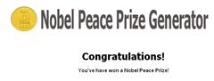 Nobel peace prize Generator