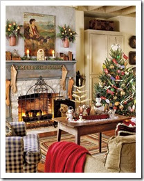 Living-Room-Christmas-Vintage_Country Living