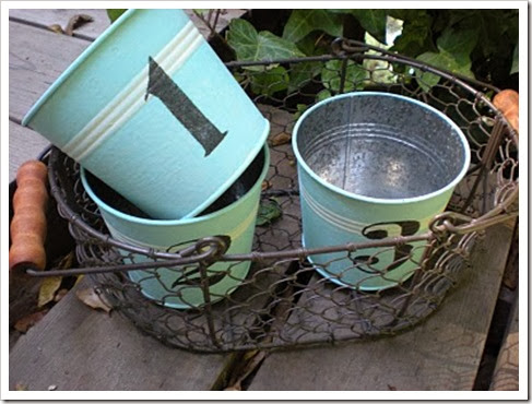 numbered pails