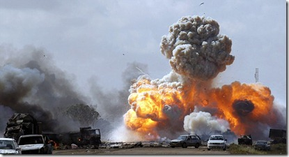 Gaddafi's forces have taken a pounding from allied air offensives. The news comes as Italy has warned it may withdraw use of its military bases if no NATO agreement is reached