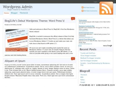 Wordpress Admin模板