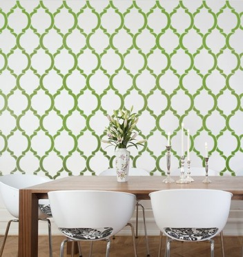 Wallpaper stencil pattern352x373