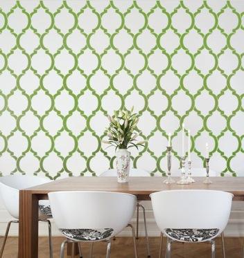 Wallpaper stencil pattern352x373