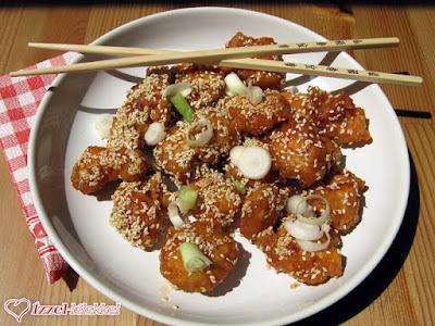 Kínai szezámmagos csirke