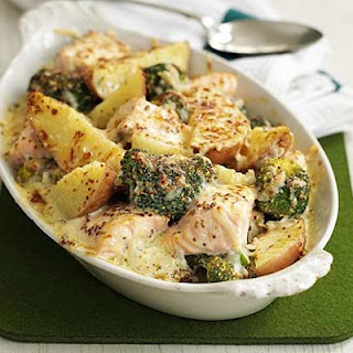 Salmon, Broccoli & Potato Bake