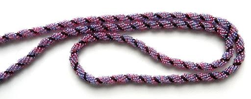 сиренево-розовый лариат из бисера Anabel
