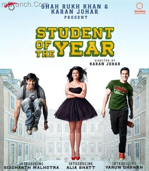 student of the year Alia Bhatt Varun Dhawan Siddharth Malhotra