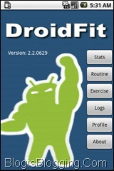 DroidFit Application For Android