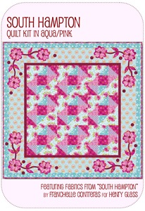 South Hampton Quilt Kit Aqua/Pink