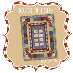 Seeds of Faith Quilt Kit - Blue