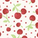 Oh-Cherry-Oh! Dots of Cherries White/Red