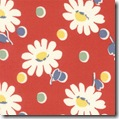 Snippets Daisies Dots Red