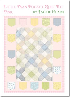 Little Man Pocket Quilt Kit - Pink