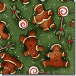 Peppermint Cottage - Gingerbread Men Green #199-3
