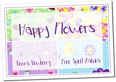 Happy Flowers by Donna Dewberry for Free Spirit
