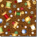 Tiny Tailors - Thread Spools on Brown 320990-A