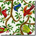 Safari So Good - Birds on Vine White #432W