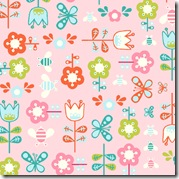 Girl Friday - Flowers & Butterflies Pink #4271-E