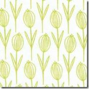 Wild Thyme - Thyme Flowers Green on White #251EG