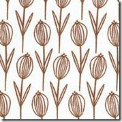 Wild Thyme - Thyme Flowers Brown on White #251EZ
