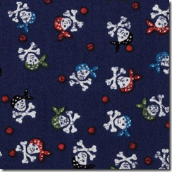 Pirates - Skulls on Blue #492-B9